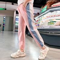 女童裤子薄款儿童运动裤中大童休闲防蚊夏季长裤