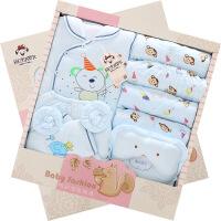 班杰威尔 秋冬装纯棉婴儿衣服加厚新生儿礼盒初生宝宝用品满月*套装 加厚小松鼠