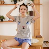 【都市丽人】睡衣女18春夏新品卡通可爱舒适柔软透气时尚家居1H8202