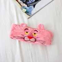 粉红豹束发带洗脸化妆头带可爱刺绣卡通宽边发箍发饰头饰