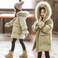 女童冬装棉衣外套冬长款女孩棉袄