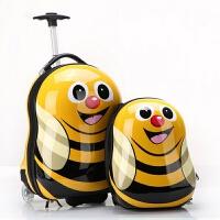 儿童拉杆箱宝宝旅行箱可爱行李箱abs小皮箱卡通蜜蜂瓢虫书包