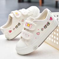 儿童帆布鞋女童布鞋魔术贴童鞋秋季学生鞋子休闲板鞋