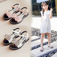 女童�鲂�夏季�r尚�底公主女童鞋中大童女孩�和�沙�┬�