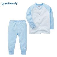 【2件8折】歌瑞家男女小童对襟套装2017秋装新款婴儿内衣套装新生儿衣服乐友