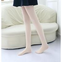 女童纯白色打底裤袜春秋夏季儿童舞蹈袜子白色中大童连体丝袜薄款