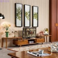 家具 现代中式实木电视柜 乌金木电视柜 客厅柜视听柜地柜 组合电视柜 组装