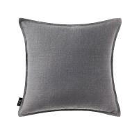 色棉麻靠背垫简约现代汽车靠垫亚麻大靠枕套不含芯沙发抱枕J