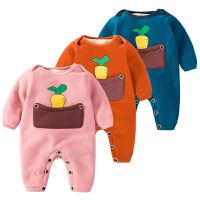 201805050449840女婴儿连体衣服0一岁3个月1男宝宝秋冬装6保暖外套装加绒加厚棉衣