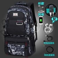 20180627001948442双肩包男士商务电脑包旅行大容量瑞士背包休闲潮学生书包