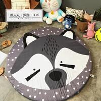 棉质儿童卡通动物造型地毯防滑圆形地垫可拆洗宝宝游戏卧室垫 直径150cm(棉圆地垫)