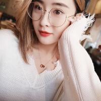 简约锁骨链韩国短款玫瑰金女士项链时尚款吊坠脖子饰品