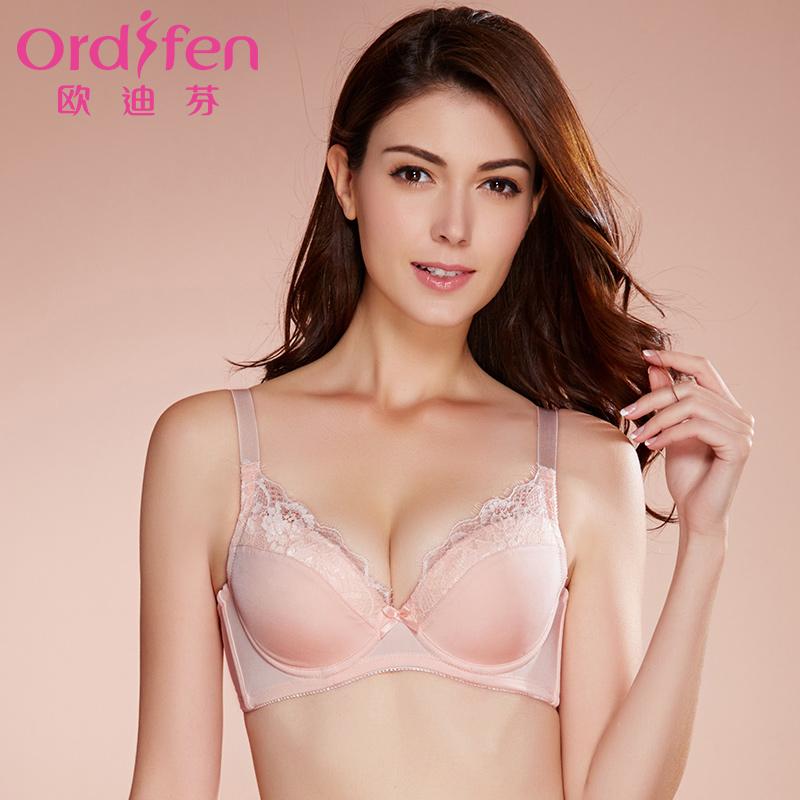 【尾品汇】欧迪芬薄款文胸薄款光面性感内衣女士胸罩XB7221聚拢文胸