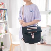 背包女双肩包小清新韩版高中泫雅上课斜跨帆布袋大容量书包