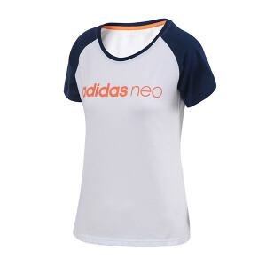 adidas阿迪达斯NEO女装短袖T恤2018年新款运动服BQ0313