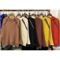 G9毛衣秋冬新款套头 韩版女装麻花加厚长袖百搭拼色打底针织衫0.4