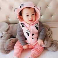 妈咪kiss蓓莱乐 男宝宝女童婴儿童马甲加绒保暖毛线背心春秋装1岁