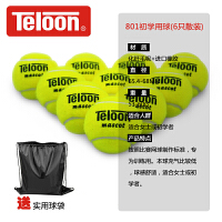 Teloon天龙网球801单人练习训练比赛耐磨初学 网球