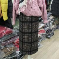 中长款2017年冬季半身裙格子H型韩版百搭清纯甜美时尚气质 图片色 均码