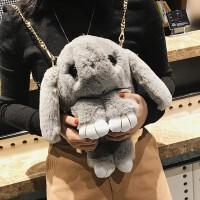 小兔子毛绒玩具背包垂耳兔玩偶包女斜挎包单双肩包