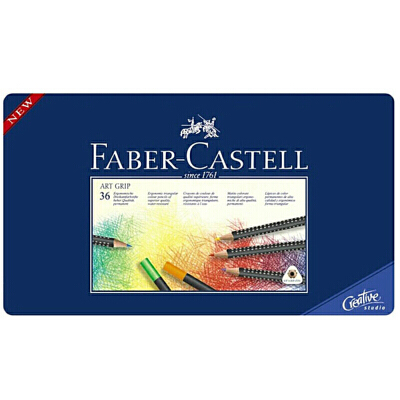德国 辉柏嘉蓝点阵36色油性彩色铅笔 蓝色铁盒装  秘密花园 上色效果好 色彩饱满 天然矿粉笔芯