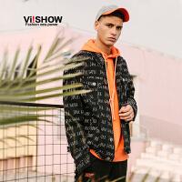 VIISHOW2018新款夹克春季潮流情侣外套男士方领韩版潮流帅气上衣