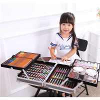 儿童礼物男孩女孩生日学习礼品绘画画笔水彩笔学生文具套装礼盒