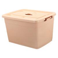 特大号塑料收纳箱加厚整理箱有盖带滑轮衣服被子周转储物箱子