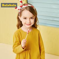 【10.22超品 3折价:29.7】巴拉巴拉童装女童T恤长袖儿童打底衫秋装新款小童宝宝洋气潮