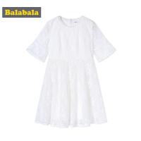 巴拉巴拉夏装2018新款童装中大童裙子女童公主裙连衣裙儿童淑女裙