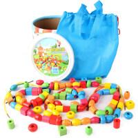 男孩串珠玩具男孩1-2-3周岁宝宝串珠子穿线儿童智力开发积木女孩兼容乐高积木玩具婴儿玩具