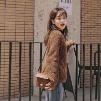 杂色加厚毛衣2019冬季新款女韩版宽松外穿慵懒长袖打底上衣针织衫