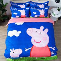 ins抖音同款网红情侣套件床上用品四件套创意印花亲肤棉柔1.8床品