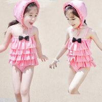 韩国裙式连体儿童游泳衣 女童宝宝泳装 送泳帽 小孩游泳衣2-9岁