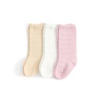 婴儿长筒袜夏季薄款宝宝中筒袜高筒袜松口网眼新生儿长袜