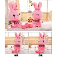 粉色裙子可爱小兔子公仔 陪睡安抚布娃娃送女孩女童儿童生日礼物