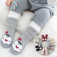 珈楚 小小羊驼 秋冬新款 加厚保暖毛圈宝宝学步袜 防滑底儿童地板袜
