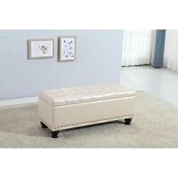 欧式换鞋凳储物箱可坐收纳凳试鞋凳鞋柜服装店沙发凳子长方形皮凳