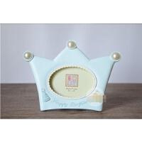 卡通皇冠相框3寸摆台 男女宝宝儿童成长纪念生日节日小礼物