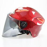 头盔四季通用男女摩托电瓶车全覆式个性轻便防紫外线防雨安全透气 均码