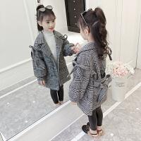 儿童毛呢外套秋冬2018新款中大童中长款韩版呢子大衣女孩