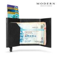Modern铝制NFC防盗刷卡盒屏蔽RFID超薄卡包钱包金属钱夹卡套
