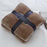 家纺法兰绒毛毯 盒装礼品加绒休闲毯子办公室盖毯秋冬床单 167*229