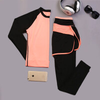 瑜伽服套装秋冬显瘦长袖健身房韩国运动速干衣健身服女跑步衣服