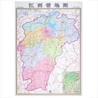 竖版江西省地图 尼龙绸 0.84x1.16米 个性创意地图 骑行自驾游地图携带方便