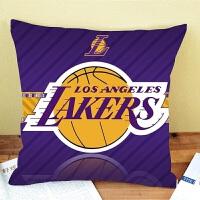 并力NBA篮球队湖人火箭棉麻酒吧咖啡厅汽车抱枕沙发靠垫午睡亚麻枕套波特兰开拓者队45*45 45*45cm
