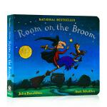 女巫扫帚排排坐 Room on the Broom英文原版绘本 万圣节读物 纸板书 Julia Donaldson 儿