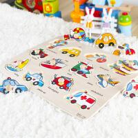 儿童立体拼图套装宝宝1-3岁男孩女孩玩具手抓板动物拼板