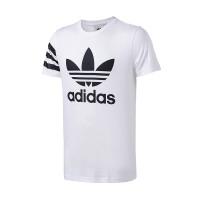 adidas阿迪达斯三叶草男子短袖T恤2018新款LOGO款休闲运动服CZ1750 ZT