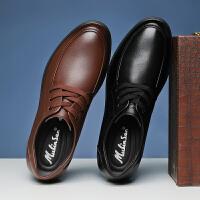 木林森男鞋冬季商务英伦男士休闲鞋男真皮鞋子男透气内增高板鞋男